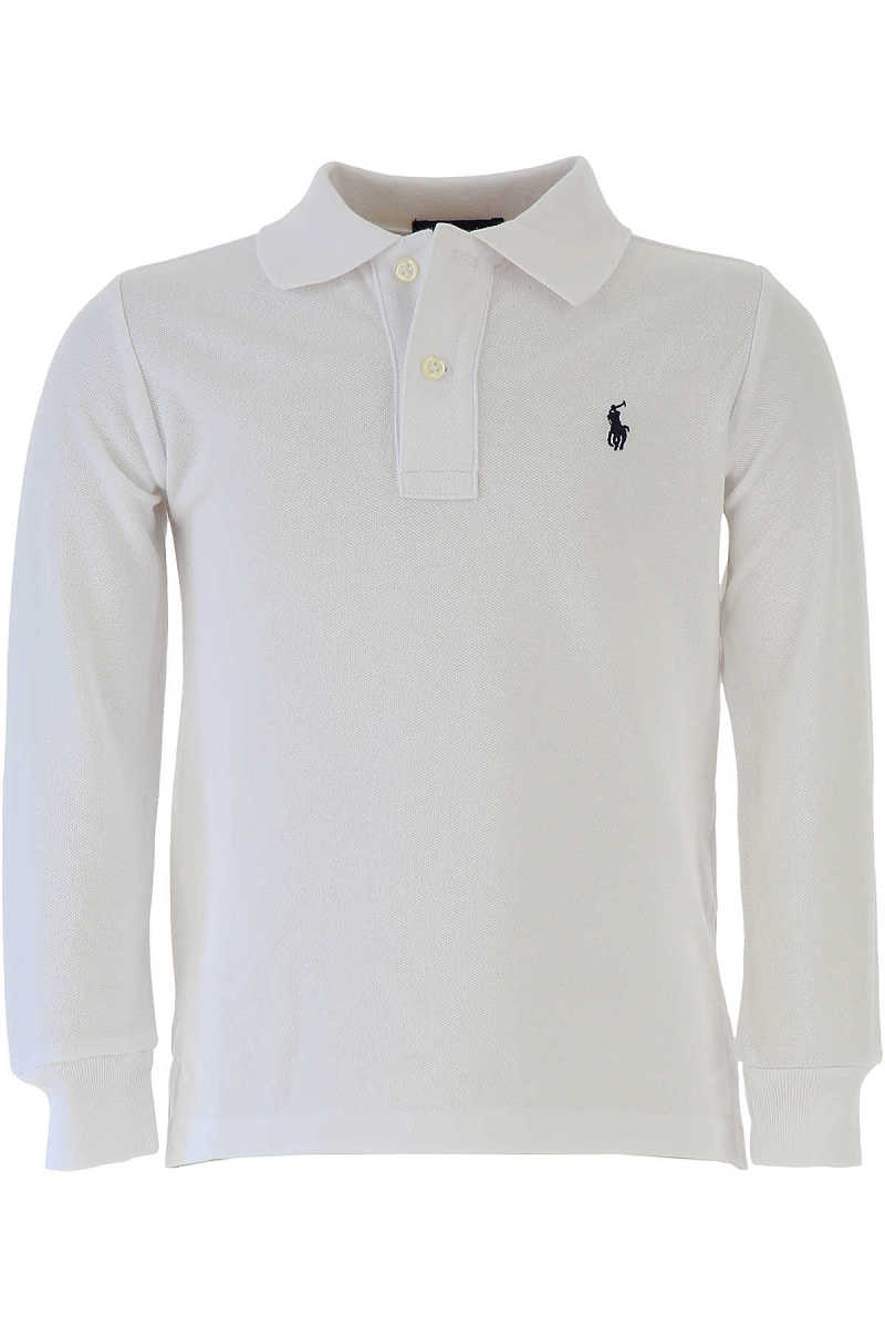 Ralph Lauren Kids Polo Shirt for Boys On Sale in Outlet White UK - GOOFASH - Mens POLOSHIRTS