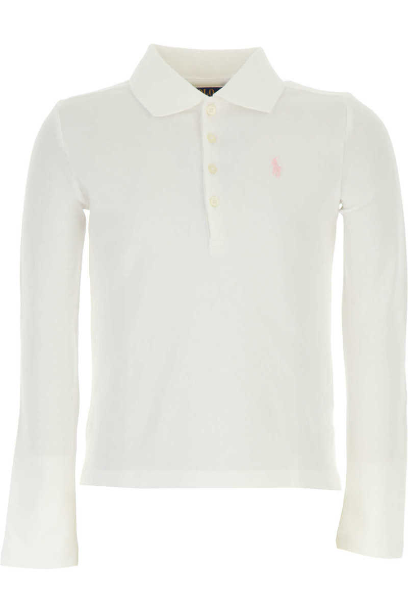 Ralph Lauren Kids Polo Shirt for Girls On Sale in Outlet White UK - GOOFASH - Womens T-SHIRTS