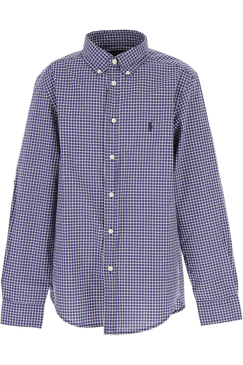 Ralph Lauren Kids Shirts for Boys On Sale in Outlet Blue UK - GOOFASH - Mens SHIRTS