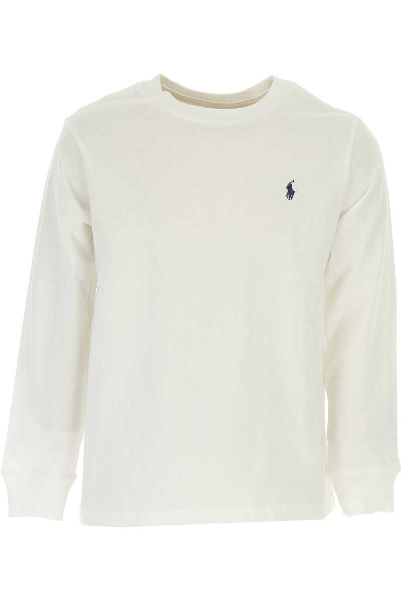 Ralph Lauren Kids T-Shirt for Boys On Sale in Outlet White UK - GOOFASH - Mens T-SHIRTS