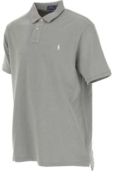 Ralph Lauren Polo Shirt for Men On Sale in Outlet Grey - GOOFASH