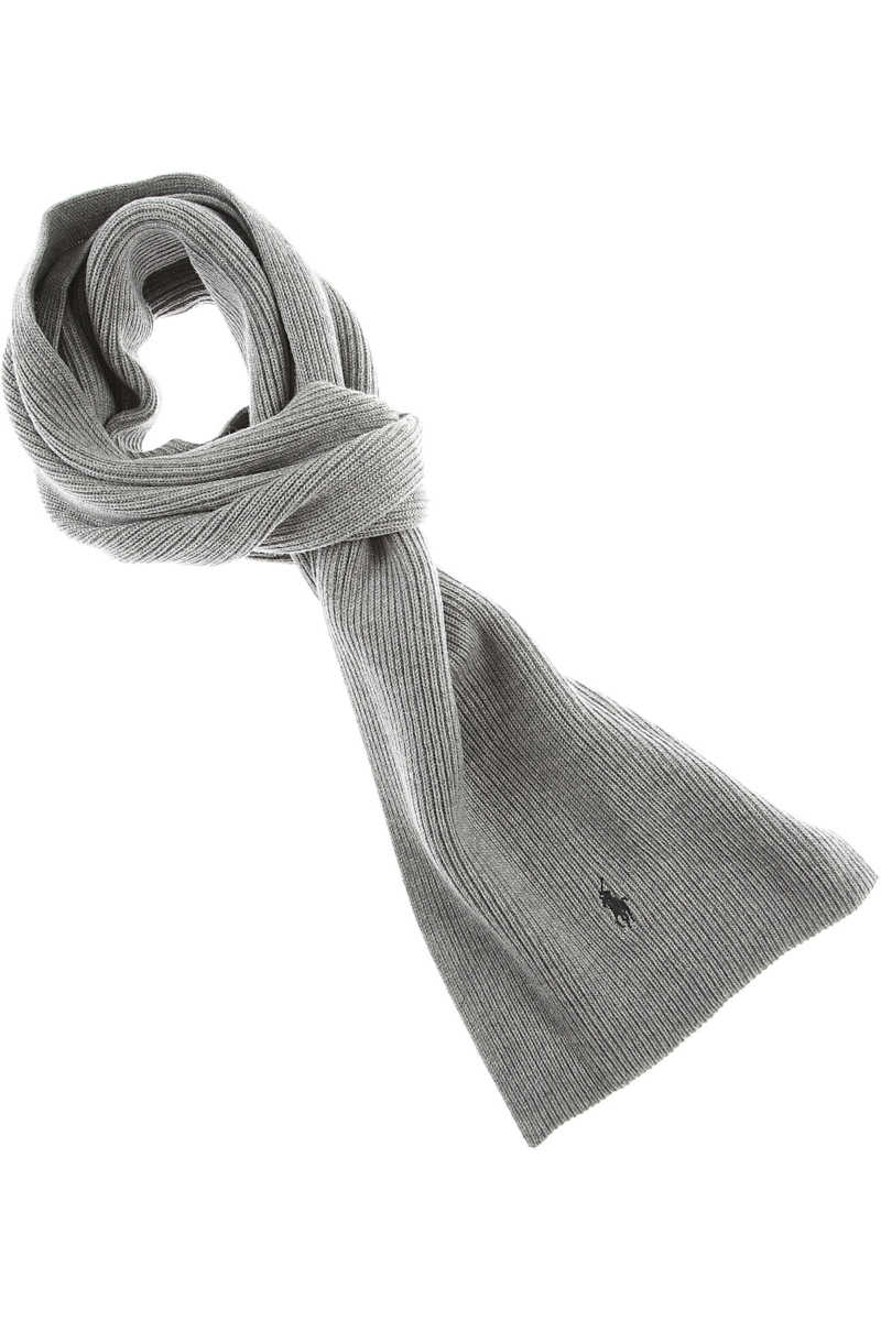 Ralph Lauren Scarf for Men On Sale in Outlet Grey - GOOFASH