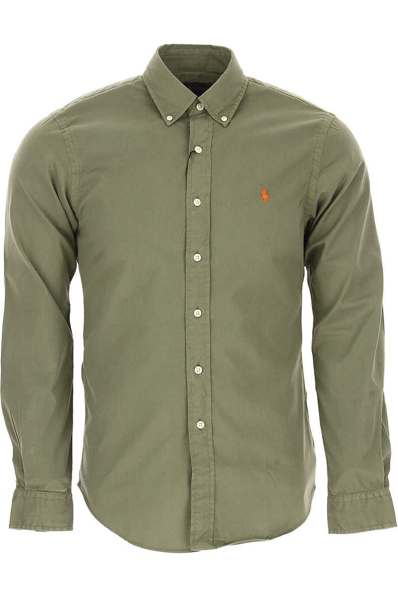 Ralph Lauren Shirt for Men On Sale in Outlet Military Green UK - GOOFASH - Mens SHIRTS