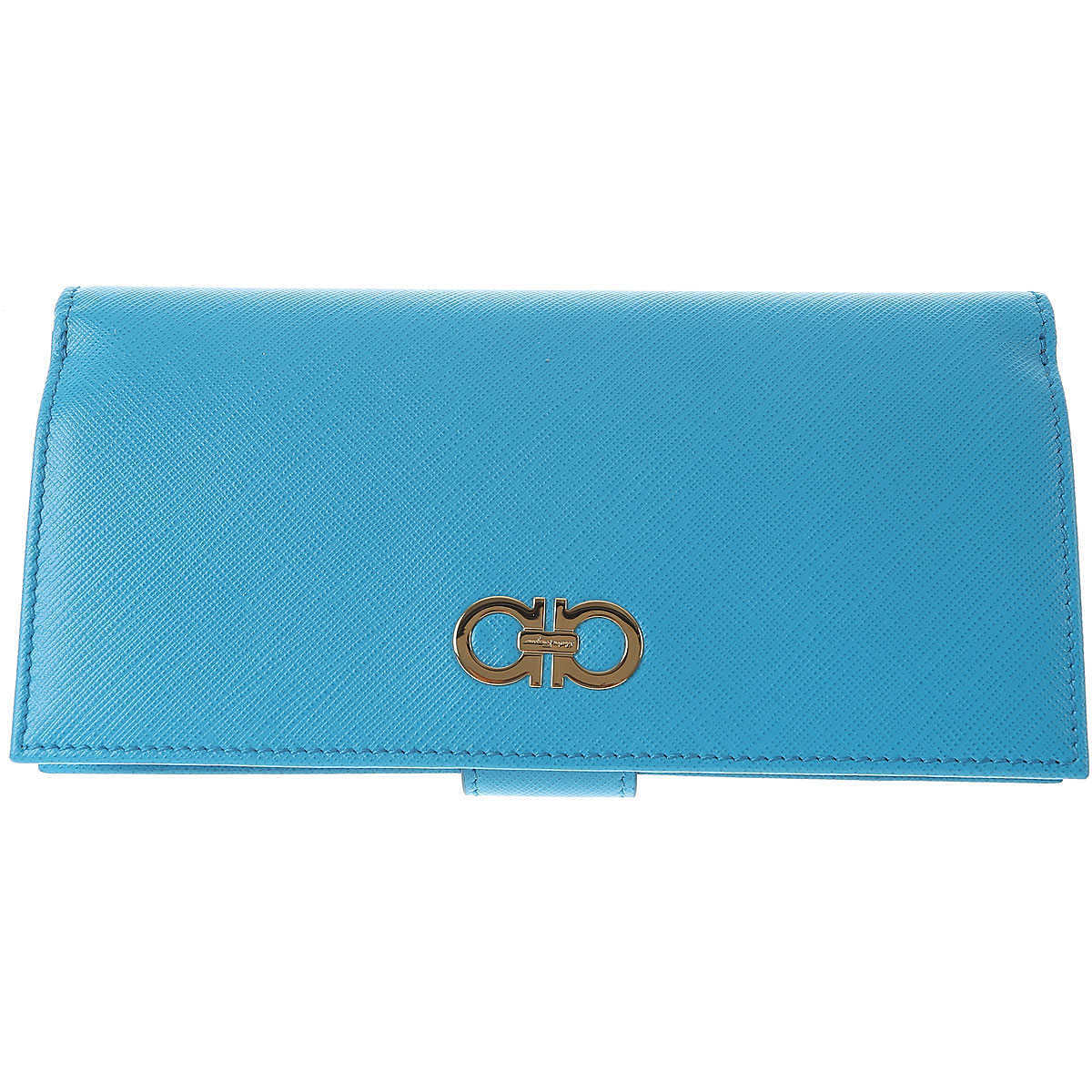 Salvatore Ferragamo Wallet for Women On Sale in Outlet Turquoise UK - GOOFASH