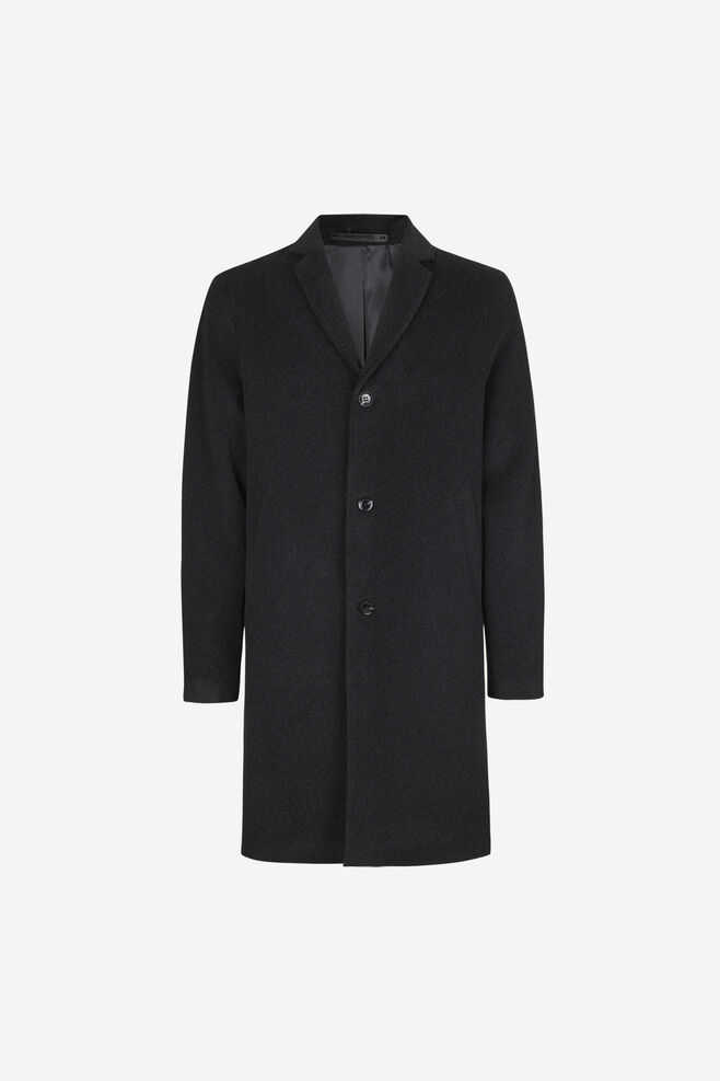 Samsoe & Samsoe NO - Bryn Coat - Dark Grey Mel. - GOOFASH - Mens COATS