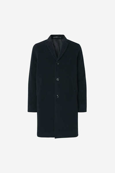 Samsoe & Samsoe NO - Bryn Coat - Night Sky - GOOFASH - Mens COATS