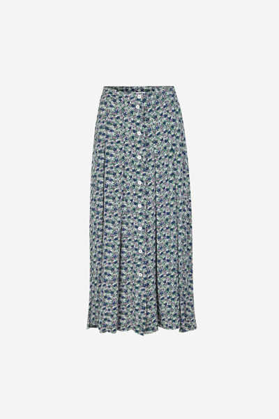 Samsoe & Samsoe NO - Cinda Skirt Aop - Forget Me Not - GOOFASH - Womens SKIRTS