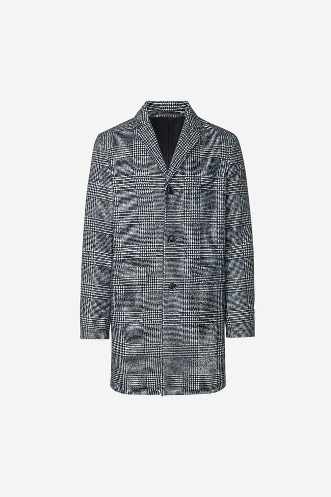 Samsoe & Samsoe NO - Grin Coat - Blue Ch. - GOOFASH - Mens COATS