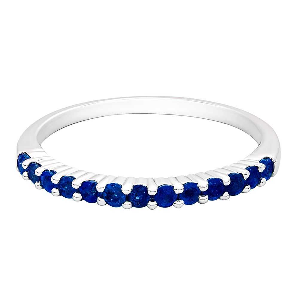Sapphire Stack Ring in Sterling Silver - Helzberg Diamonds USA - GOOFASH - Womens JEWELRY