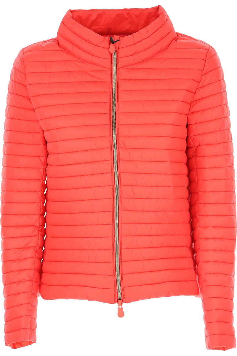 Save the Duck Jacket for Women On Sale Red - GOOFASH