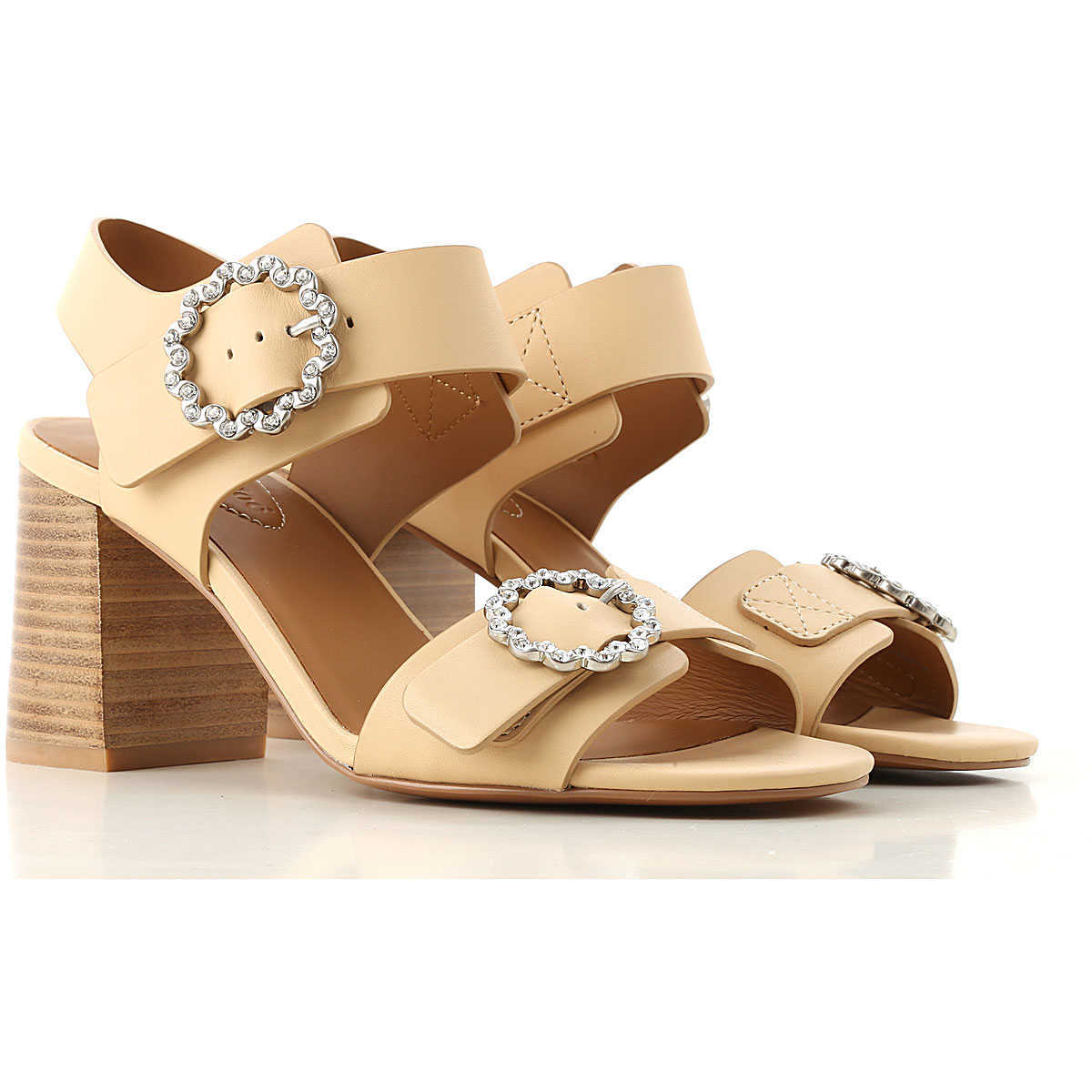 See By Chloe Sandals for Women On Sale Beige UK - GOOFASH