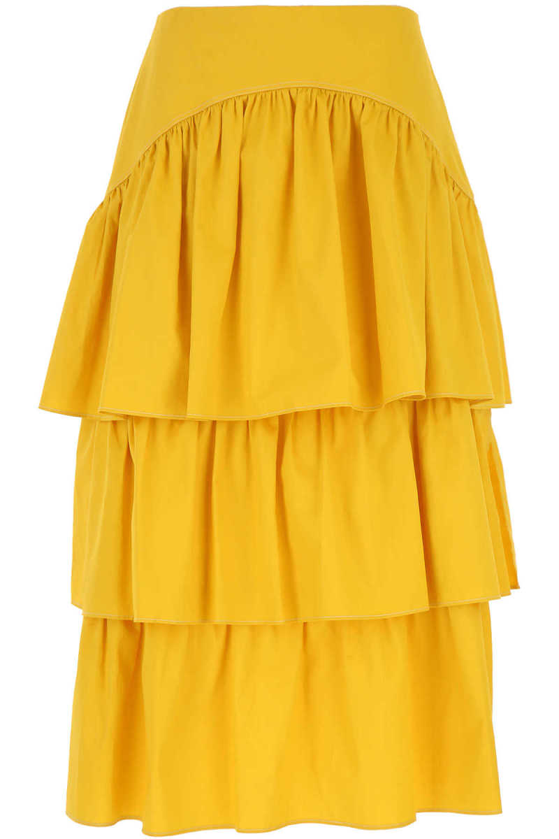 See By Chloe Skirt for Women On Sale Yellow Ochre - GOOFASH
