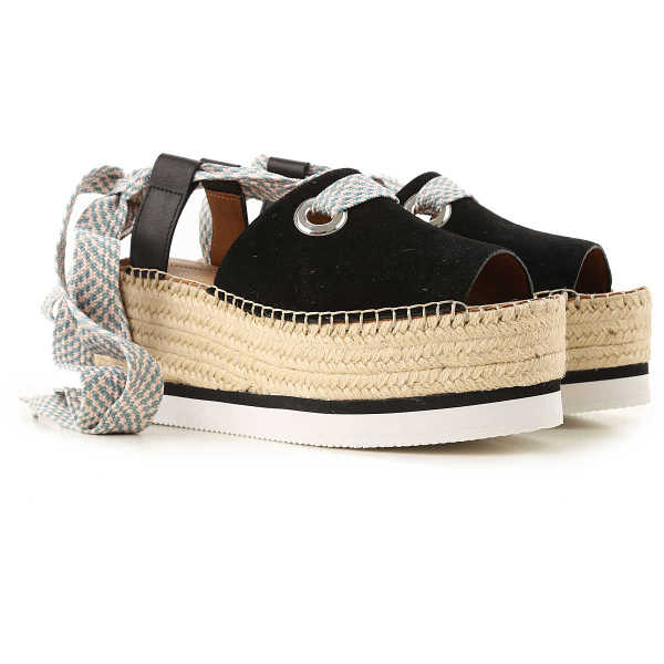 See By Chloe Wedges for Women On Sale Black UK - GOOFASH