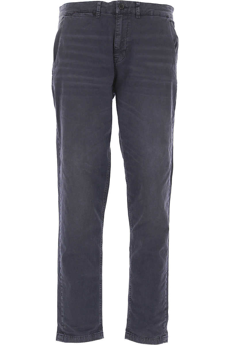 Selected Pants for Men On Sale Navy Blue - GOOFASH