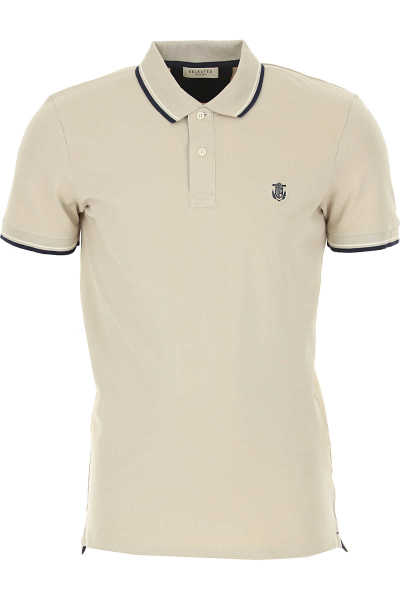 Selected Polo Shirt for Men On Sale Light Beige - GOOFASH