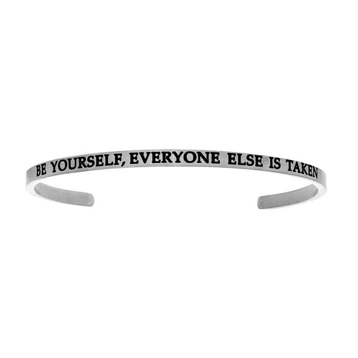 """Silver """"BE YOURSELF"""