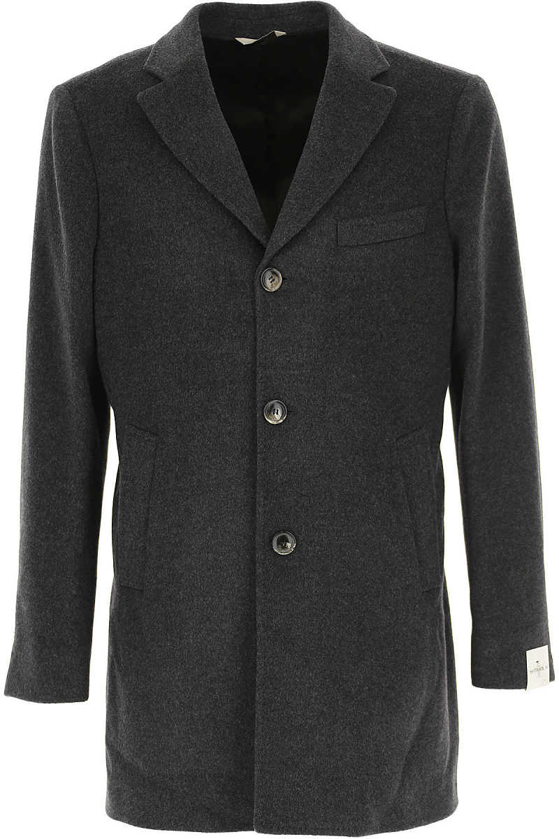 Simbols Men's Coat Dark Grey - GOOFASH