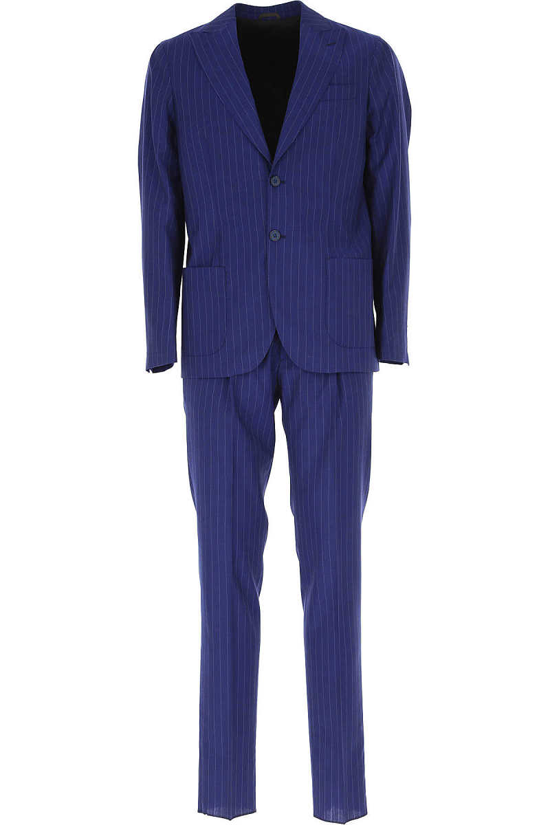 Simbols Men's Suit Blue UK - GOOFASH - Mens SUITS