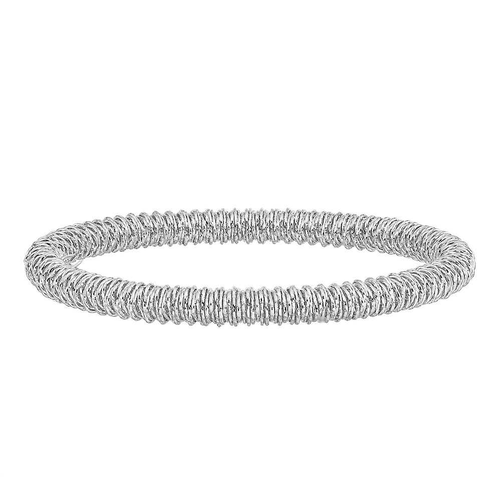 Spiral Stretch Bracelet in Sterling Silver - Helzberg Diamonds USA - GOOFASH - Womens JEWELRY