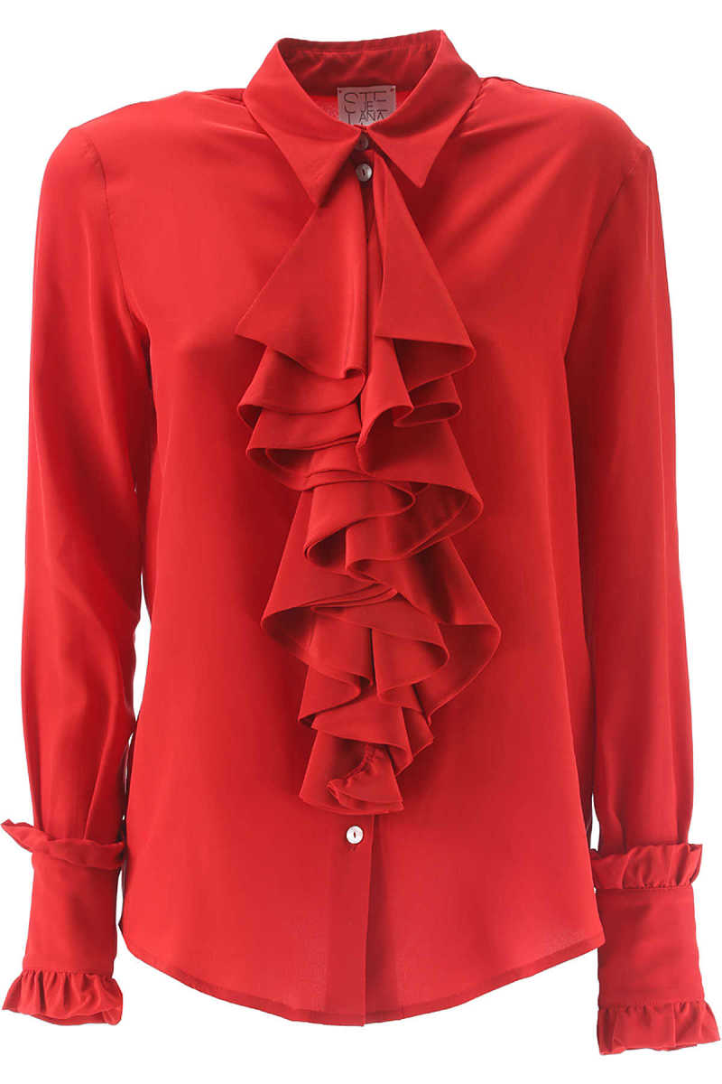 Stella Jean Shirt for Women On Sale in Outlet Red - GOOFASH