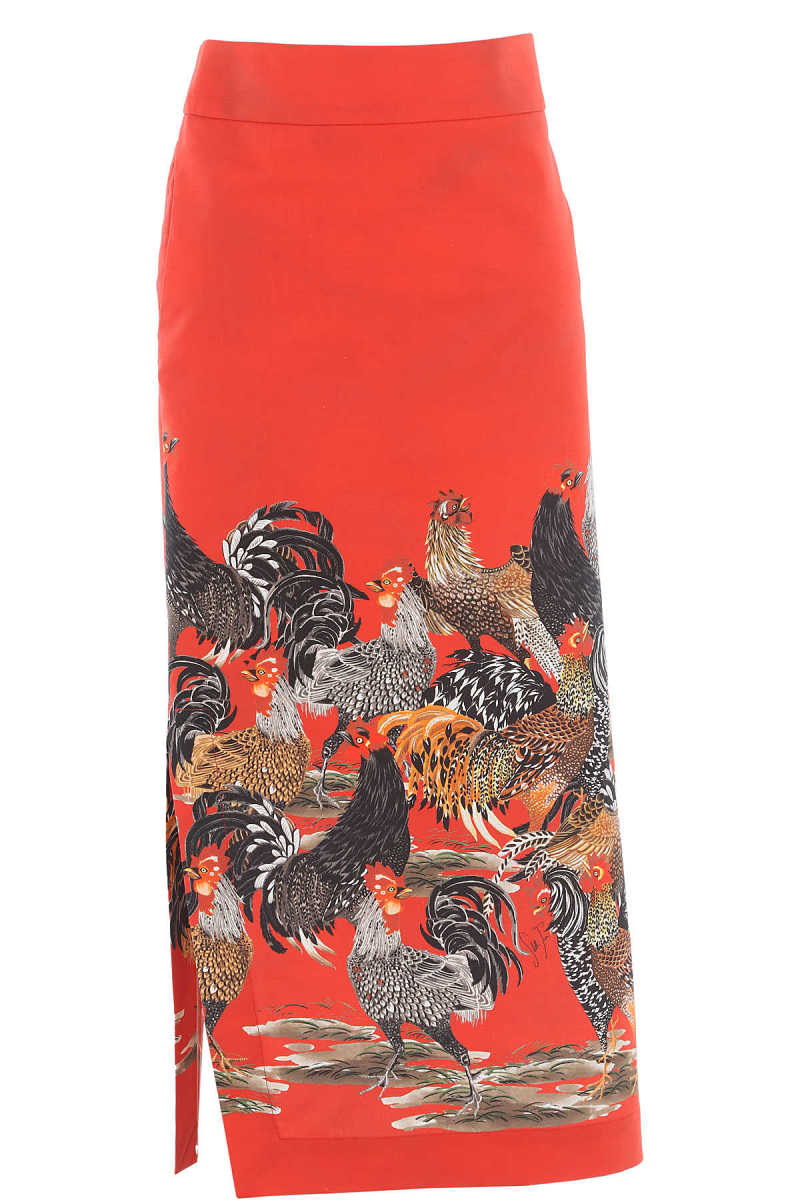 Stella Jean Skirt for Women On Sale in Outlet Red - GOOFASH