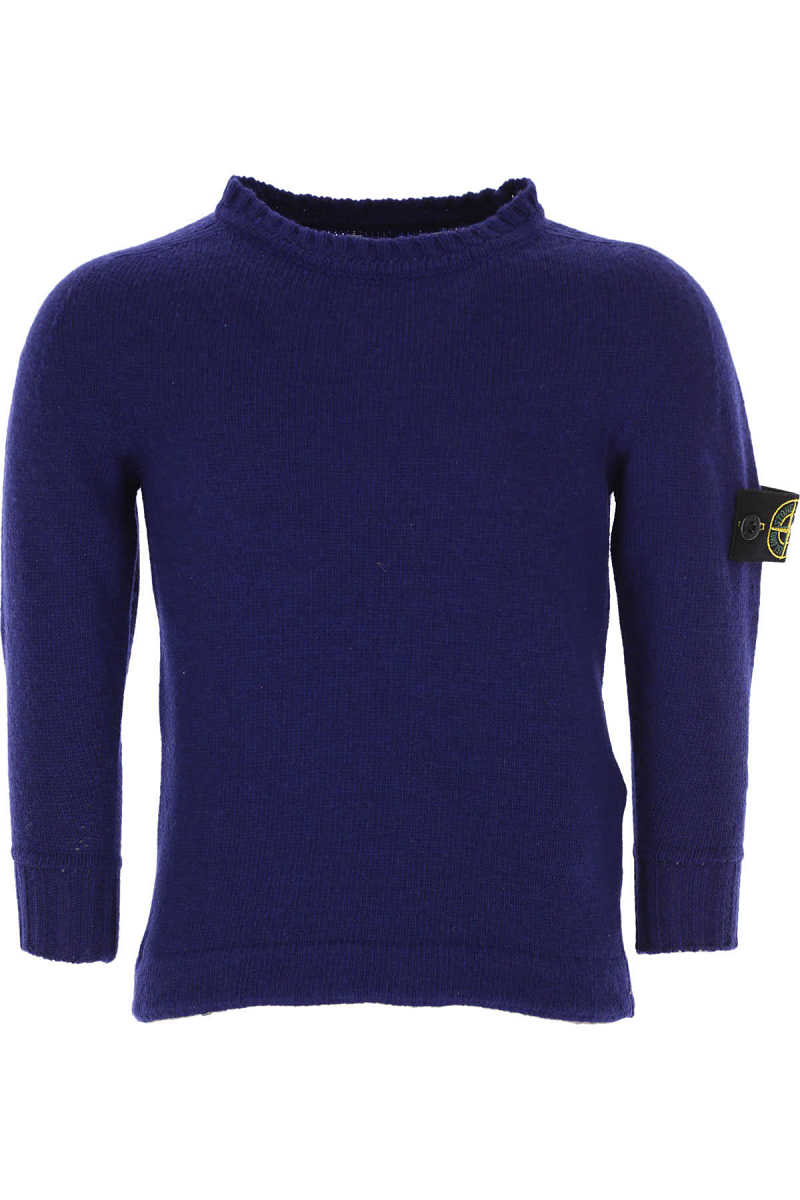 Stone Island Kids Sweaters for Boys On Sale in Outlet Blue UK - GOOFASH - Mens SWEATERS