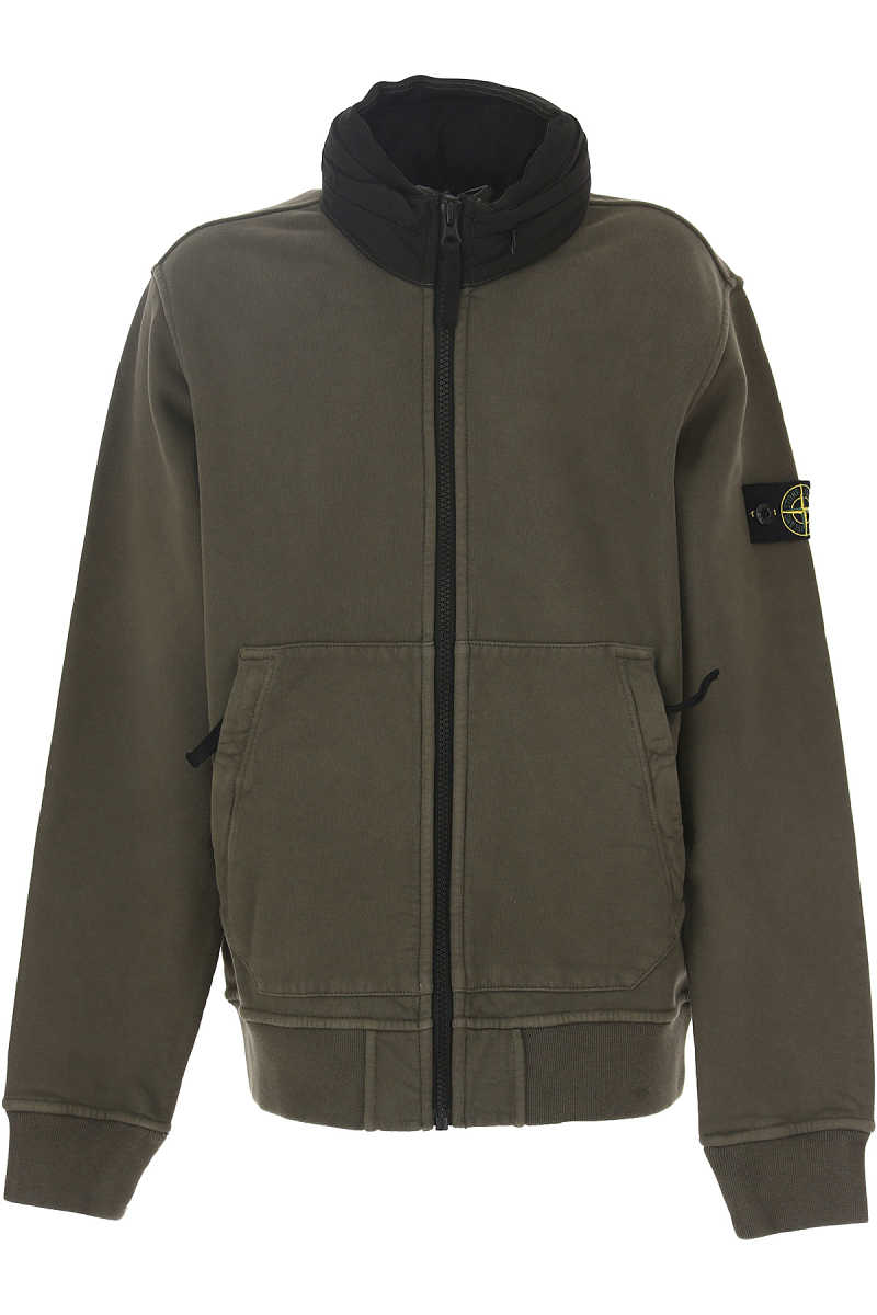 Stone Island Kids Sweatshirts & Hoodies for Boys On Sale in Outlet Military Green - GOOFASH - Mens SWEATERS
