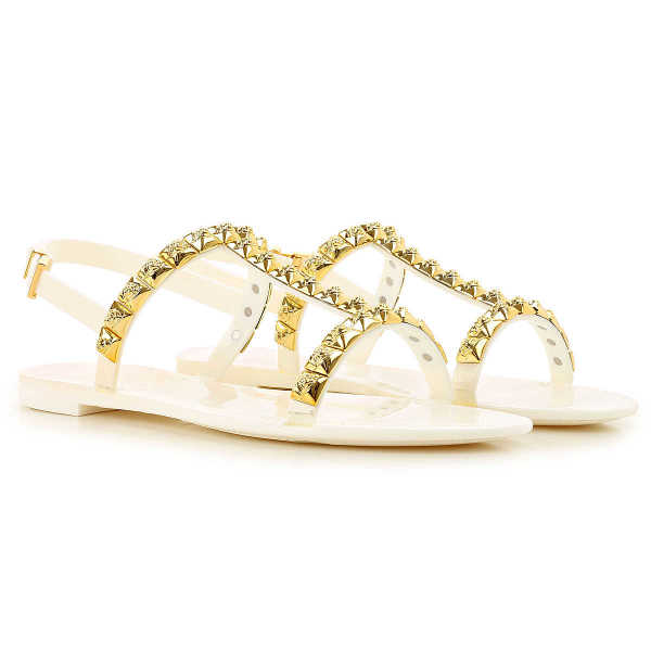 Stuart Weitzman Sandals for Women On Sale in Outlet White UK - GOOFASH