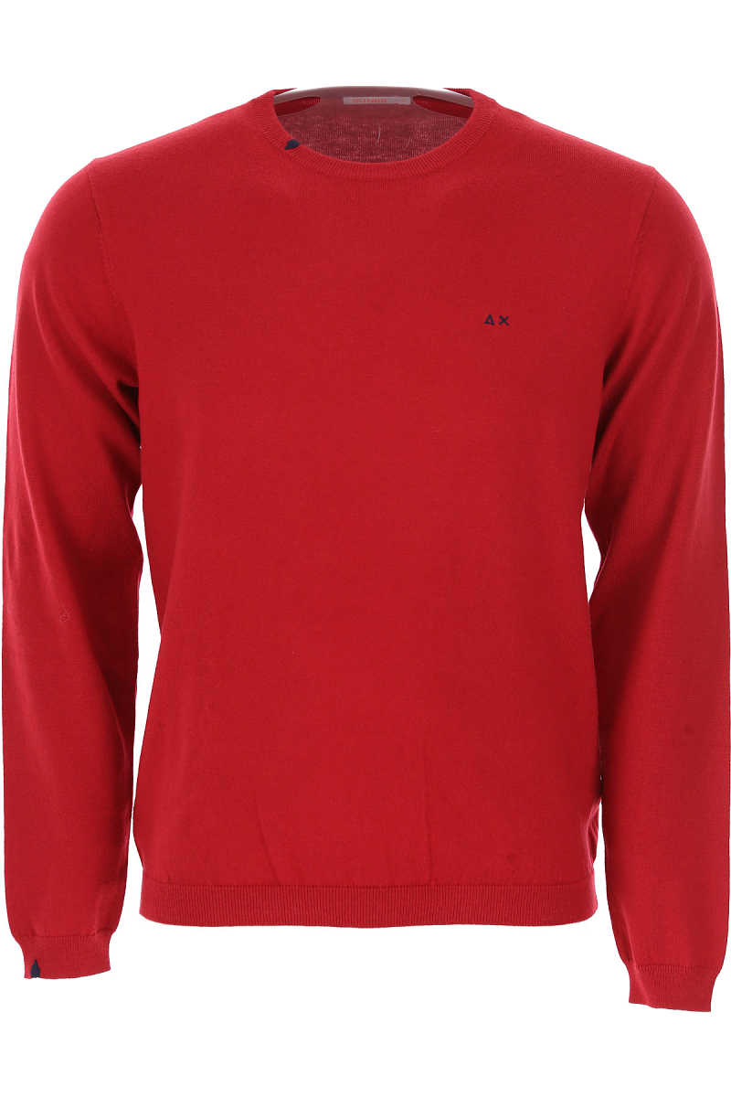 Sun68 Sweater for Men Jumper On Sale in Outlet Red - GOOFASH