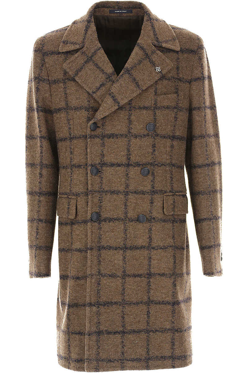 Tagliatore Men's Coat On Sale in Outlet Virgin wool UK - GOOFASH - Mens COATS