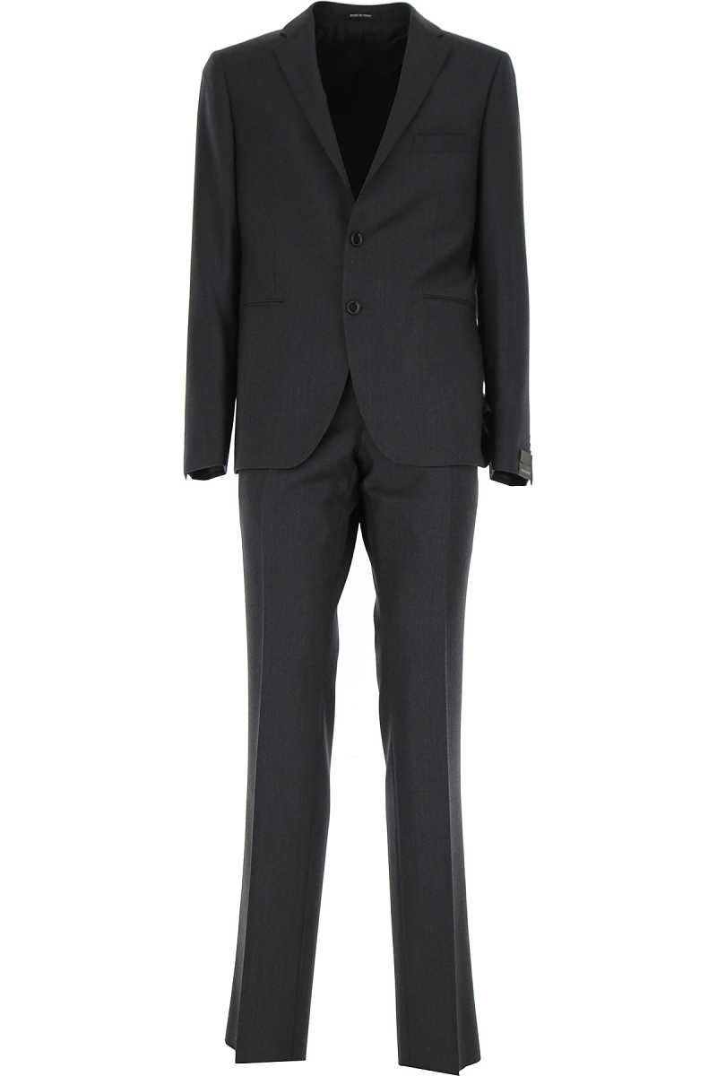 Tagliatore Men's Suit Dark Grey - GOOFASH