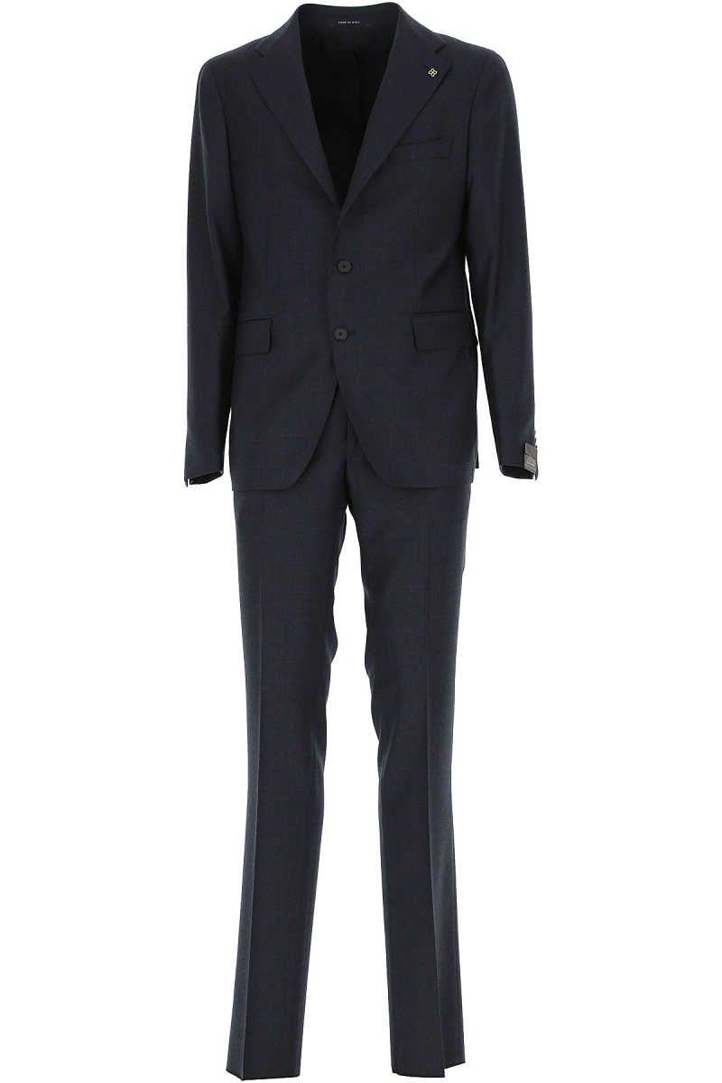 Tagliatore Men's Suit Midnight Blue - GOOFASH