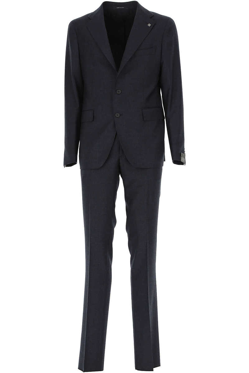 Tagliatore Men's Suit Midnight Blue UK - GOOFASH - Mens SUITS
