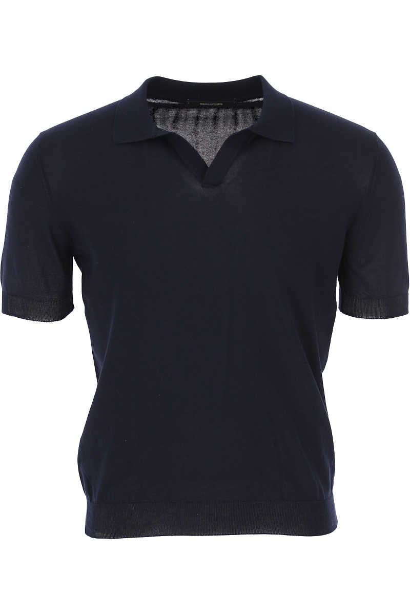 Tagliatore Polo Shirt for Men On Sale Blue Ink - GOOFASH