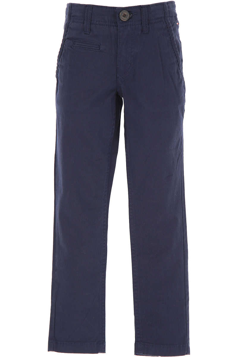 Tommy Hilfiger Kids Pants for Boys On Sale in Outlet Blue - GOOFASH - Mens TROUSERS