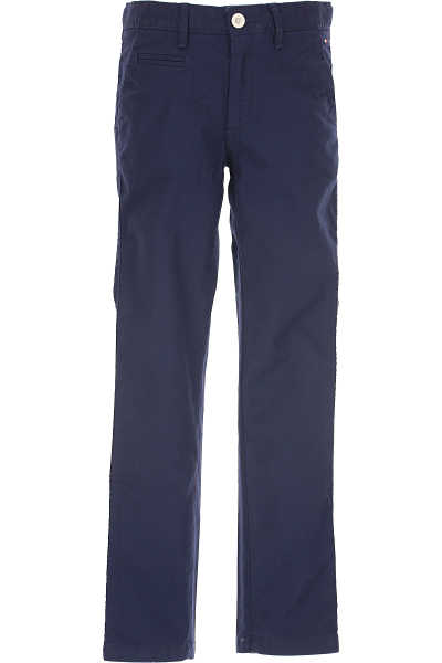 Tommy Hilfiger Kids Pants for Boys navy - GOOFASH - Mens TROUSERS