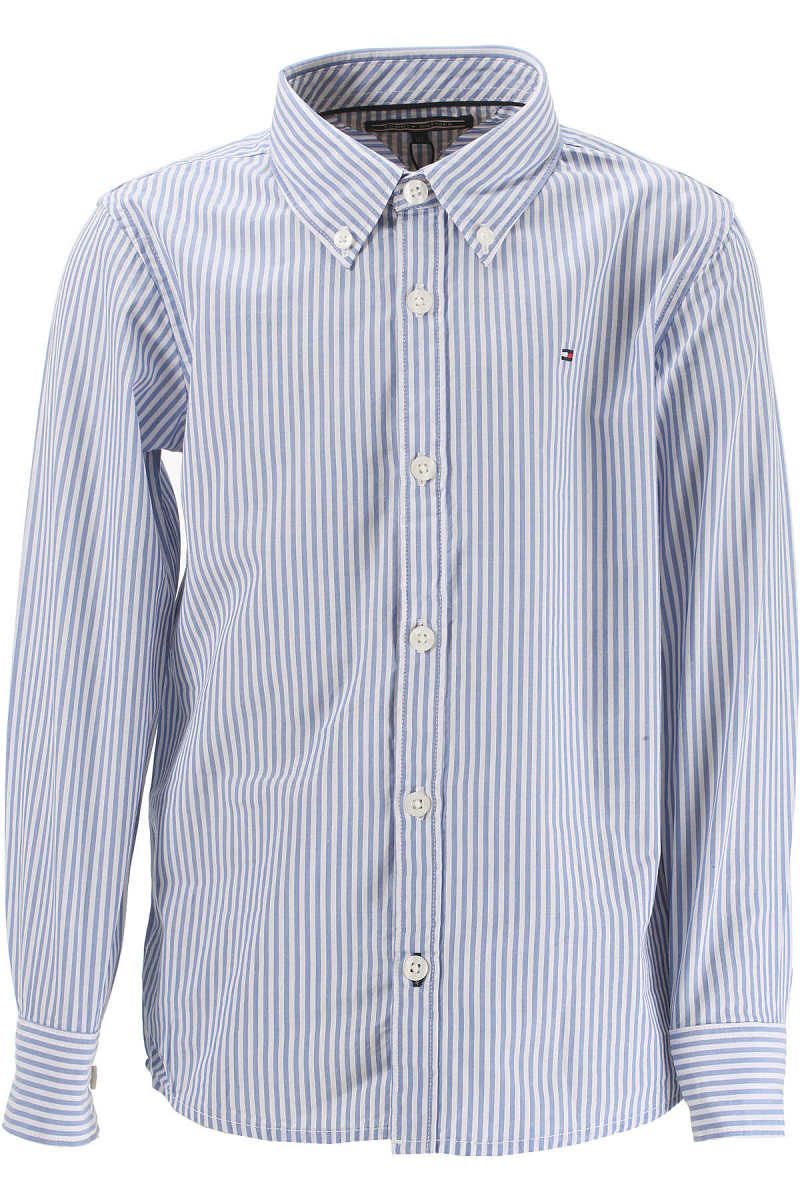 Tommy Hilfiger Kids Shirts for Boys On Sale in Outlet White UK - GOOFASH - Mens SHIRTS