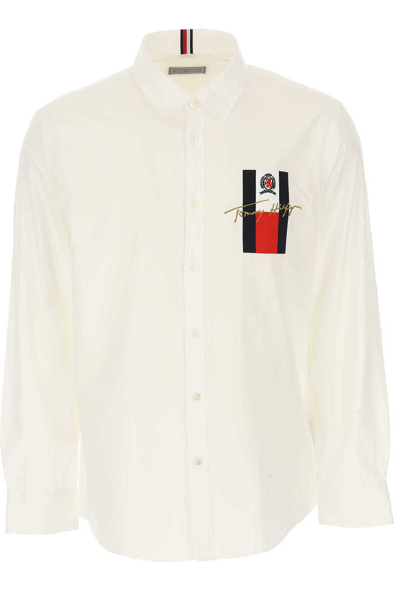 Tommy Hilfiger Shirt for Men On Sale White - GOOFASH