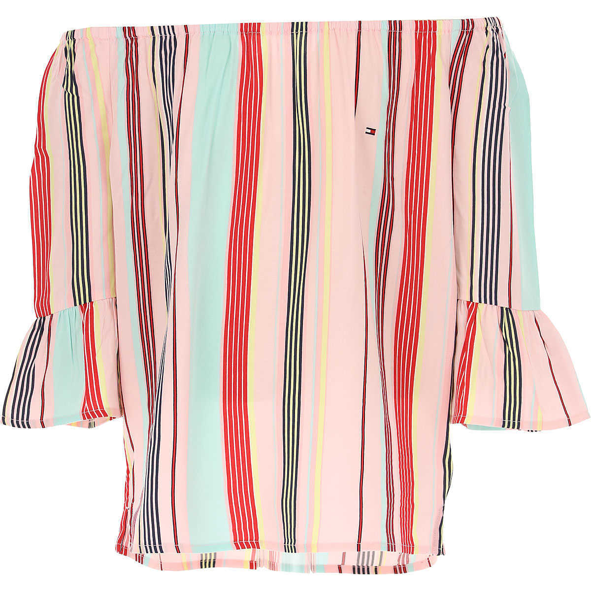 Tommy Hilfiger Tops On Sale Pink UK - GOOFASH - Womens TOPS