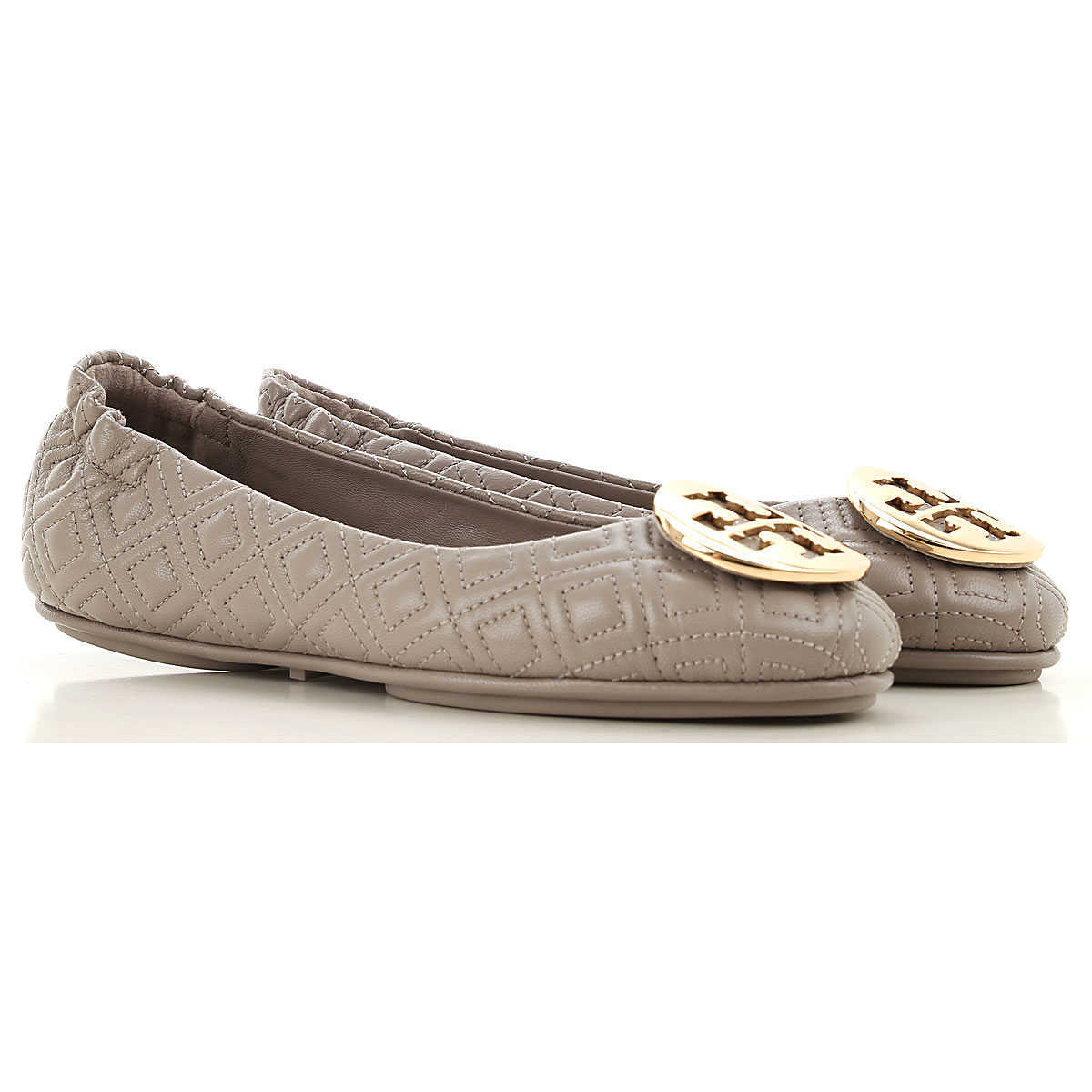 Tory Burch Ballet Flats Ballerina Shoes for Women Dust Storm UK - GOOFASH