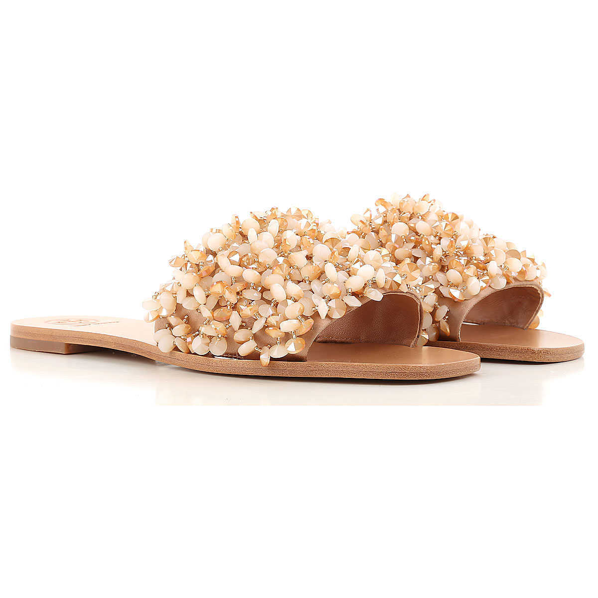 Tory Burch Sandals for Women On Sale in Outlet Nude UK - GOOFASH