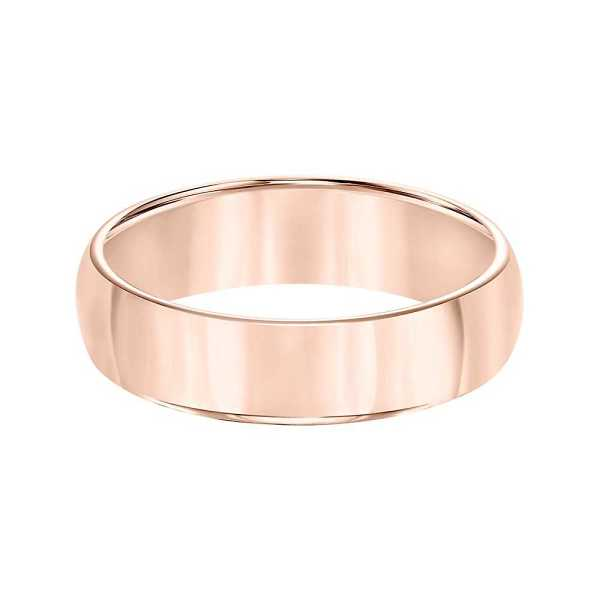 Triton Men's Polished Domed Band in Tungsten