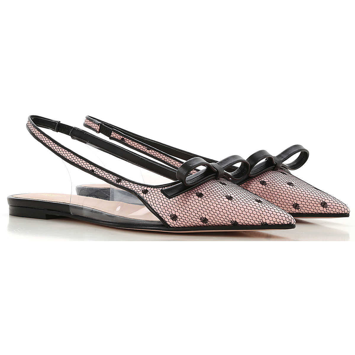 Valentino Garavani Ballet Flats Ballerina Shoes for Women On Sale Rose UK - GOOFASH