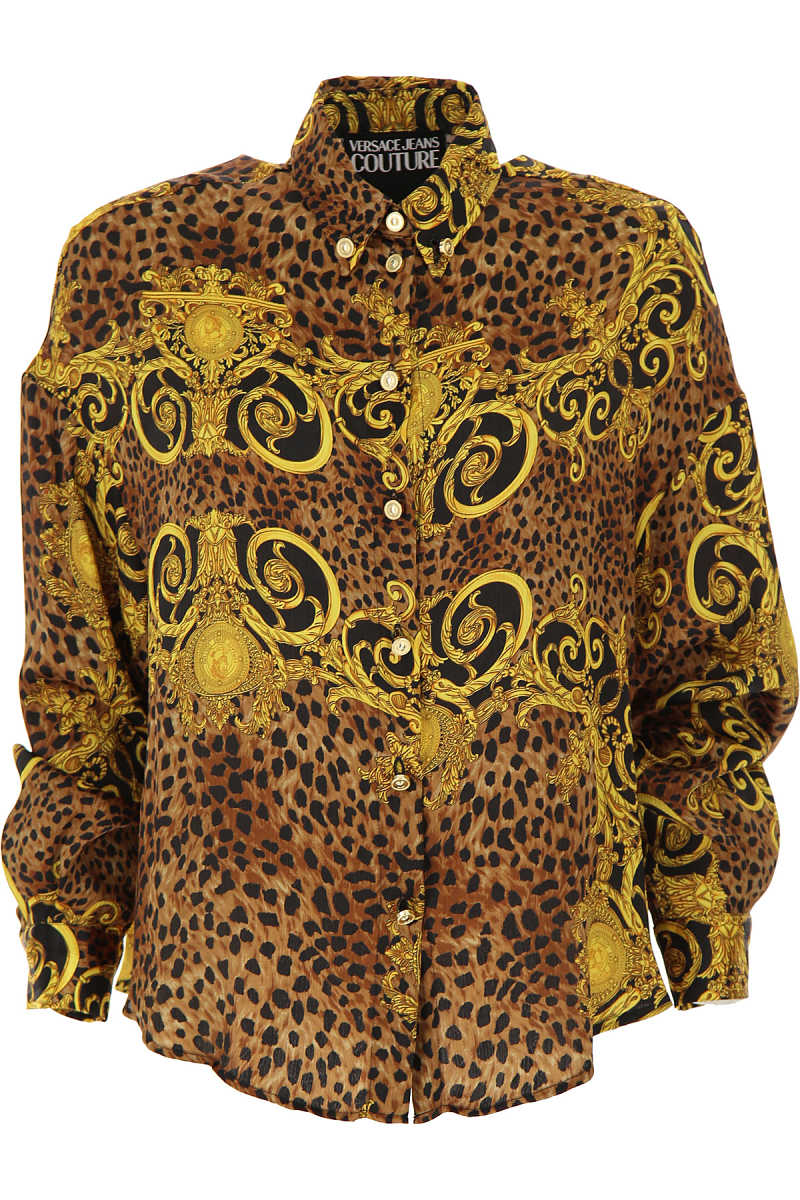 Versace Jeans Couture Shirt for Women Gold - GOOFASH