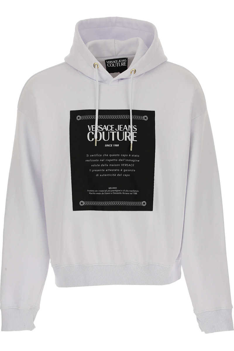 Versace Jeans Couture Sweatshirt for Men White UK - GOOFASH - Mens SWEATERS