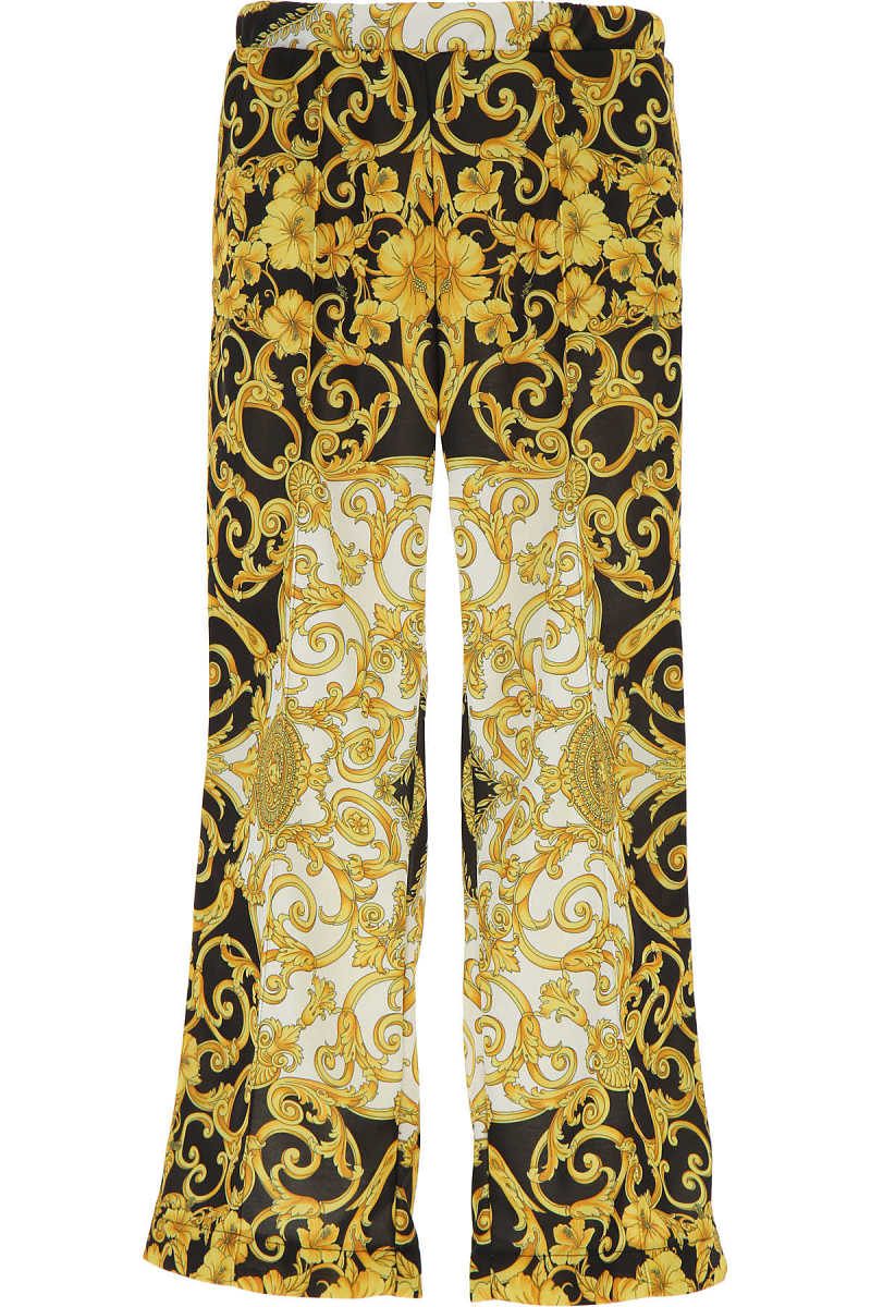 Versace Kids Pants for Boys On Sale Gold UK - GOOFASH - Mens TROUSERS