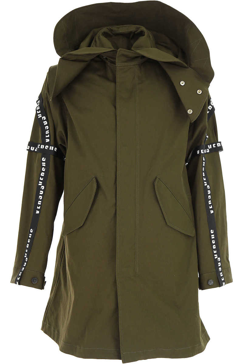 Versace Men's Coat On Sale in Outlet Military Green - GOOFASH