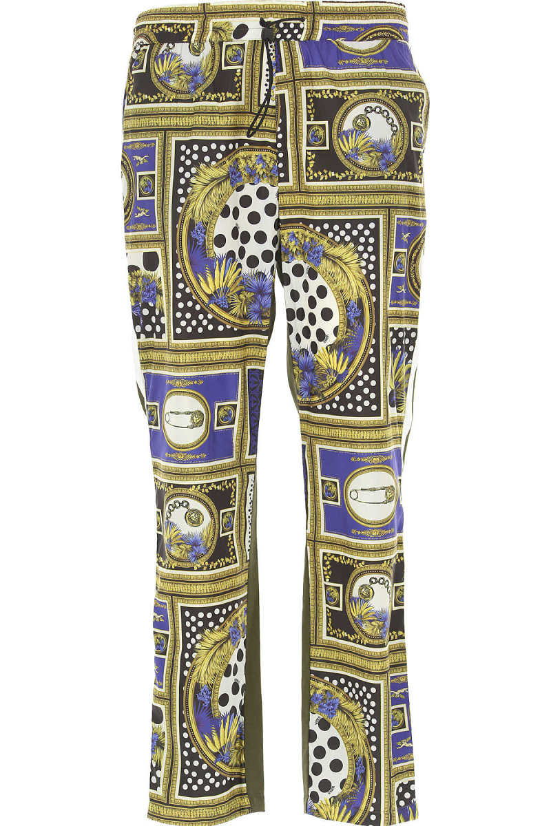 Versace Pants for Men On Sale in Outlet Military Green UK - GOOFASH - Mens TROUSERS
