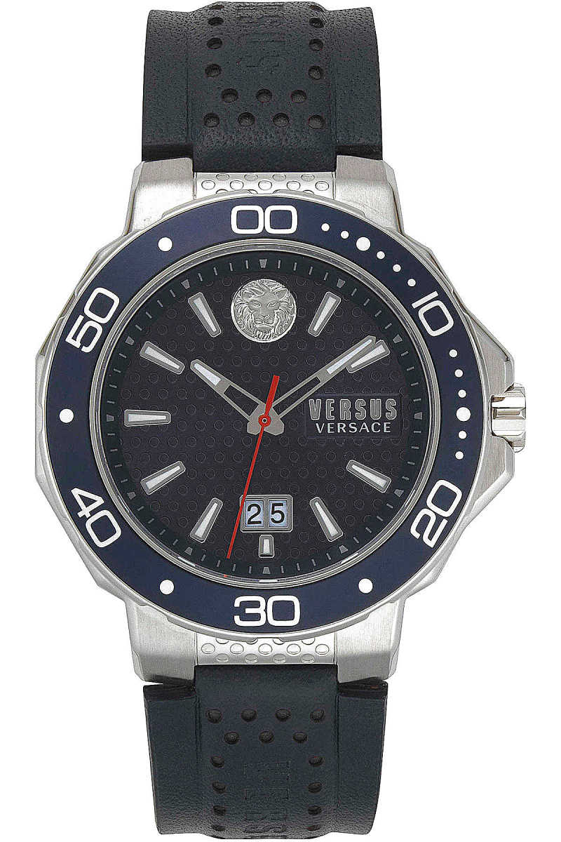 Versace Watch for Men On Sale Dark Blue UK - GOOFASH - Mens WATCHES