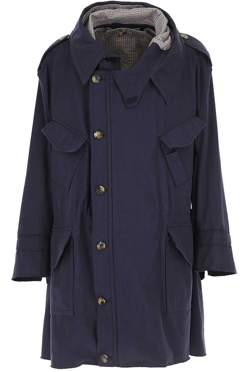 Vivienne Westwood Men's Coat On Sale Dark Blue UK - GOOFASH - Mens COATS